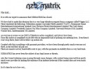 The end of NZBMatrix